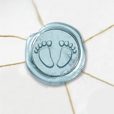 "Wax Seal Stickers-50 Stickers-50PK- 1""-Baby Feet"