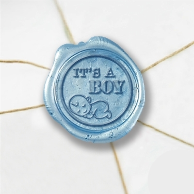 "Wax Seal Stickers-50PK- 1""- Its a boy"