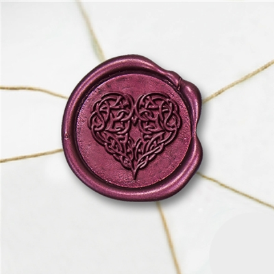 Celtic Heart Wax Seal Stickers-50PK- 1""