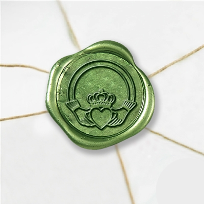 Claddagh 2 Wax Seal Stickers-50PK- 1""