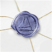 Sailboat Wax Seal Stickers-50 Stickers-50PK- 1""