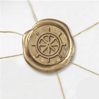 Ships Wheel Wax Seal Stickers-50 Stickers-50PK- 1""