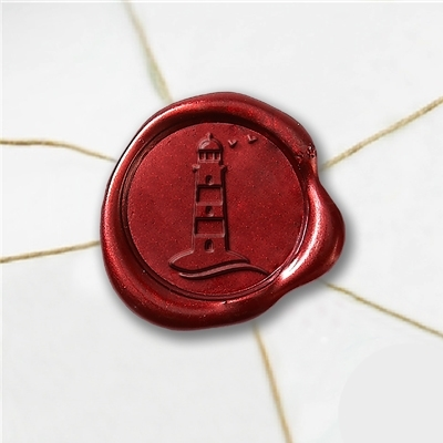 Lighthouse Wax Seal Stickers-50 Stickers-50PK- 1""