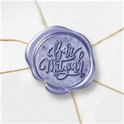 Bar Mitzvah Wax Seal Stickers-50 Stickers-50PK- 1""