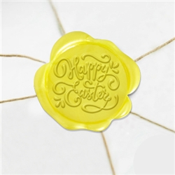 Happy Easter Wax Seal Stickers-50PK- 1 1/4""
