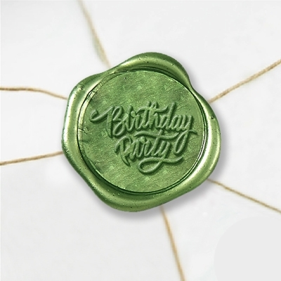 Birthday Party Wax Seal Stickers-50PK- 1""