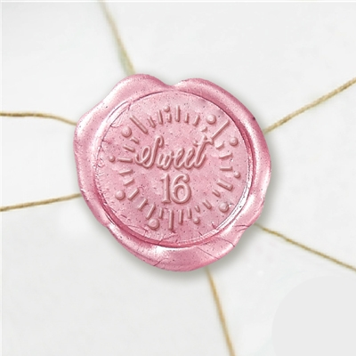 Sweet 16 Wax Seal Stickers-50 Stickers-50PK- 1""