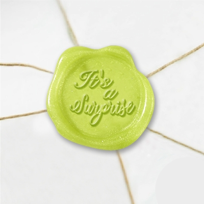 It's A Surprise Wax Seal Stickers-50 Stickers-50PK- 1""