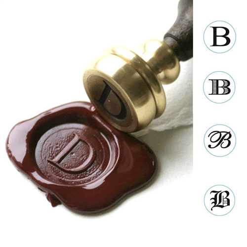 Initial Wax Seal Stamp -Stock font