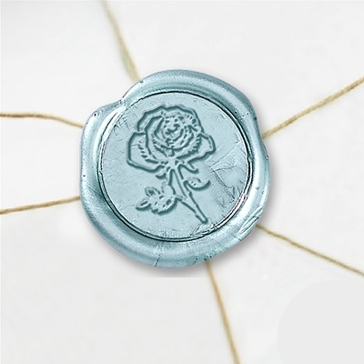 Rose Wax Seal Stickers-50 Stickers-50PK- 1""