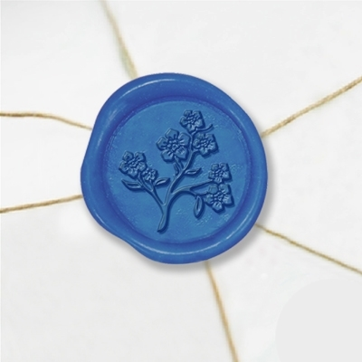 Forget Me Not Wax Seal Stickers-50 Stickers-50PK- 1""