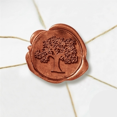 Tree 2 Wax Seal Stickers-50 Stickers-50PK- 1""