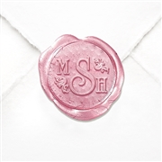 "Hand Pressed Custom Wax Seals 50PK- 1 1/4"" - University Roman with Fleurs"