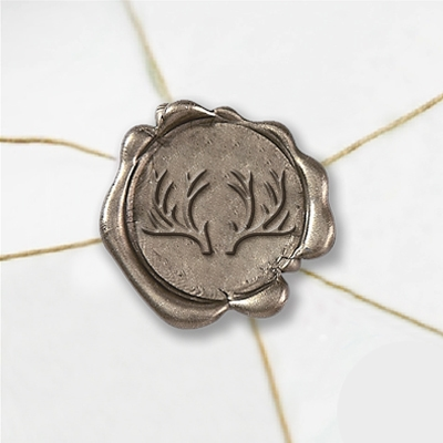 Antlers Wax Seal Stickers-50 Stickers-50PK- 1""