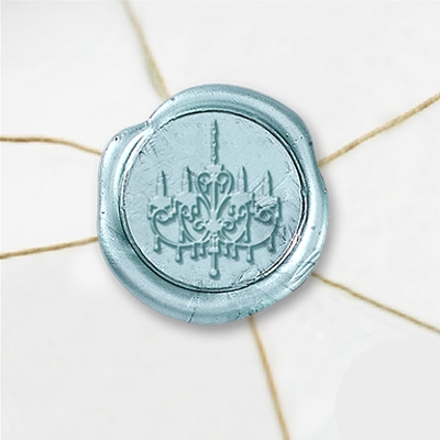 "Wax Seal Stickers-50 Stickers-50PK- 1""- Chandelier"