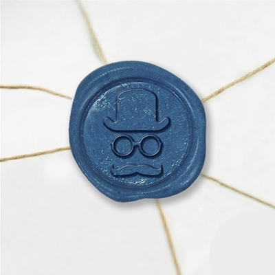 Gentleman Hat Wax Seal Stickers-50 Stickers-50PK- 1""