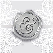 Curvy Ampersand Adhesive Symbol Wax Seal Stickers 50PK - Hand Pressed 1""