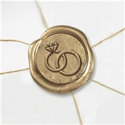 Wedding Rings Wax Seal Stickers-50PK- 1""