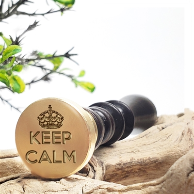 Vintage Inspirational Wax Seal Stamp-Keep Calm -1 1/8""