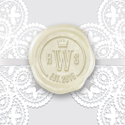 "Adhesive Wedding Wax Seals Stickers 50PK-Handpressed 1 ¼"" #8050"