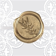 "Olive Branch Adhesive Wax Seal Stickers Hand Pressed - 1"" Symbol"