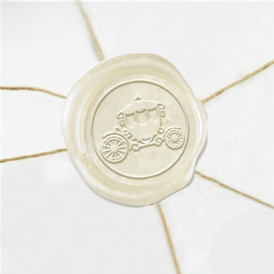"Wax Seal Stickers-50PK- 1""- Wedding Coach"
