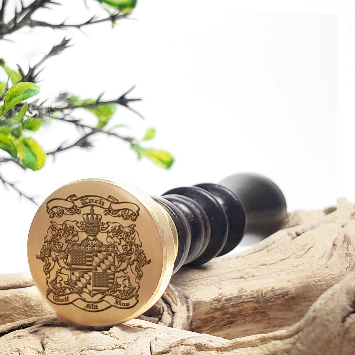Family crest wax seal stamp die customize with your name and shield family crest thecheapjerseys Gallery