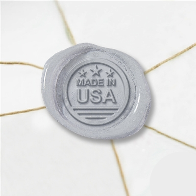 Made In USA Wax Seal Stickers-50PK- 1""