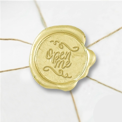 Open Me Wax Seal Stickers-50PK- 1""
