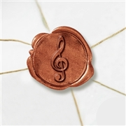"Wax Seal Stickers-50 Stickers-50PK- 1""- Musical Note"