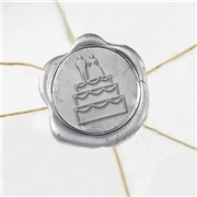 "Wedding Cake Bride Groom Wax Seal Stickers-50PK- 1""-"
