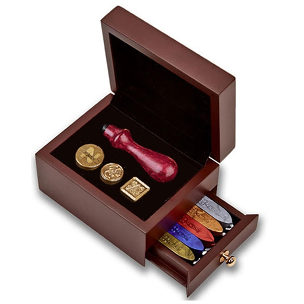 Wood Travel Box  for Wax Seal Accessories
