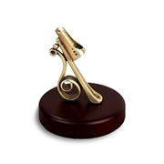 Feather Quill Pen Holder-Wood with Bronze Holder