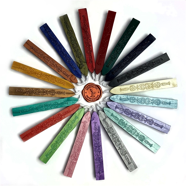 "Sealing Wax  by color -4"" flexible & mailable stick with wick"