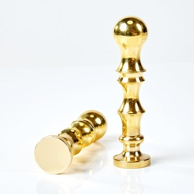 "Solid Brass Superior Deluxe Handle - 3 1/2"" tall"