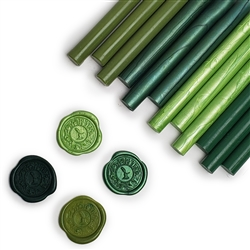 Glue Gun Sealing Wax 12PK-Meadow Green Assortment Saver Pack