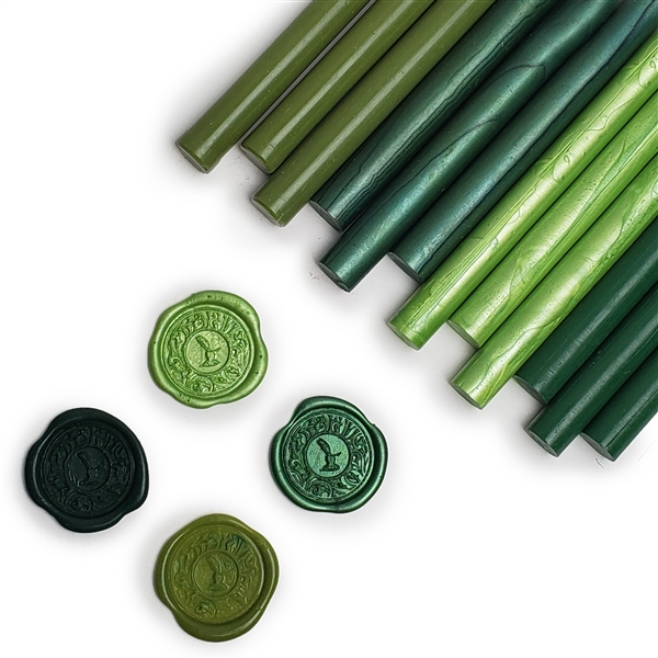 2 each gold /& silver Papermania /'Confetti/' sealing wax  Wax seal refills 4 pack