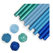 Glue Gun Sealing Wax 12PK-Caribbean Blue Assortment Saver Pack