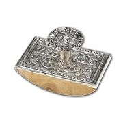 Silver Ink Blotter-Decorated Metal top