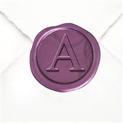 "Adhesive  Initial Wax Seal Stickers 50PK - Hand Pressed 1"" Times Roman Font"
