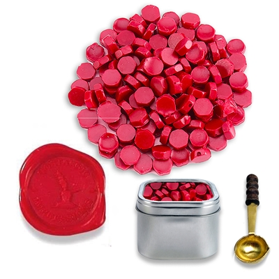 Fire Engine Red Sealing Wax Beads by Color -2oz in Tin