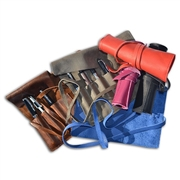 Leather Pen  Roll Wrap-Made in Italy