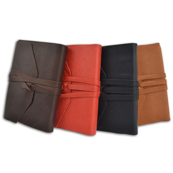 Leather Wrap Journal - Not Refillable-Made in Italy
