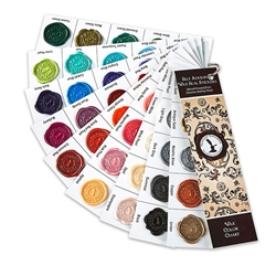 Swatch Fan Deck -Self Adhesive Wax Seal Stickers