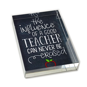 Influence of a Teacher Glass Paperweight-Rectangle