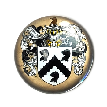 Family Crest Glass Paperweight