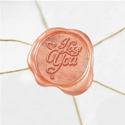 I Love You Wax Seal Stickers-50PK- 1""