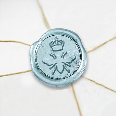 Queen Bee Wax Seal Stickers-50PK- 1""