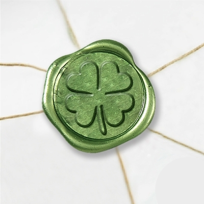 "Wax Seal Stickers-50 Stickers-50PK- 1""- Shamrock"