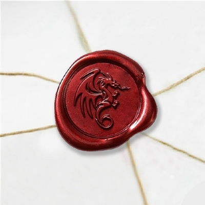 "Wax Seal Stickers-50PK- 1""- Flying Dragon"